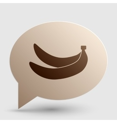 Banana simple sign brown gradient icon on bubble vector