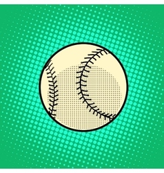 Baseball ball pop art retro style vector