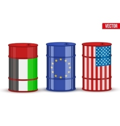 Benchmark oil brent wti dubai crude vector