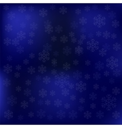 Blue Snow Winter Background vector image vector image