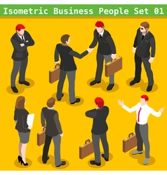 Business poses 01 people isometric vector