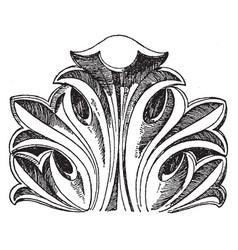 Byzantine leaf is a design found in vector