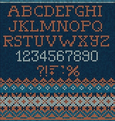 Christmas knitted font vector