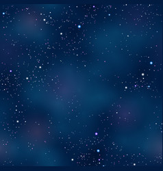 Cloudy night space skyscape starry background vector