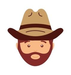 Cowboy avatar isolated icon design vector