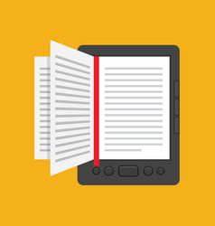 e-book concept in flat design vector image