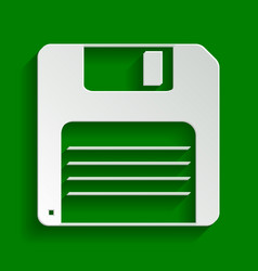 Floppy disk sign paper whitish icon with vector