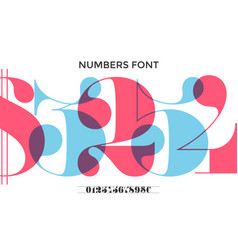 font of numbers in classical french didot vector image vector image