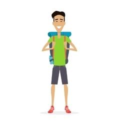 Hiker Traveler vector image vector image