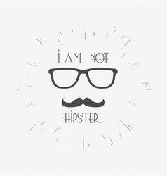hipster vintage label badge or print vector image vector image