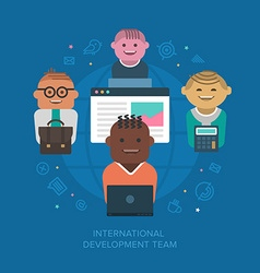 International development team vector