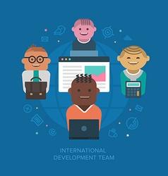 International Development Team vector image vector image
