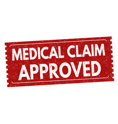 Medical claim approved sign or stamp vector
