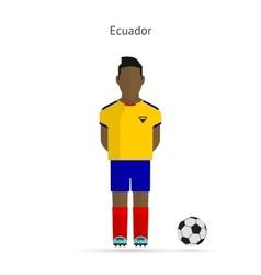 National football player ecuador soccer team vector