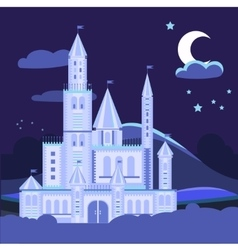 Night landscape with castle vector image