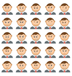 Office smileys set vector