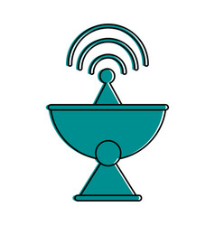 Satellite dish telecommunication icon image vector