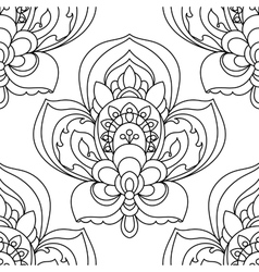Seamless Monochrome Ornate Pattern Hand vector image