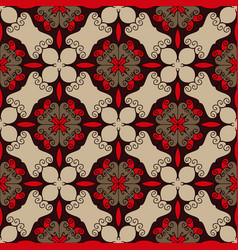 seamless pattern in red brown and beige colors vector image