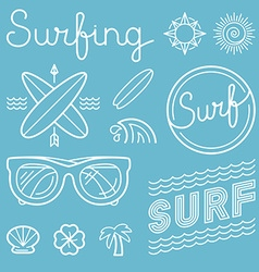 Set of surfing logos vector