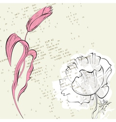 stylized flowers vector image