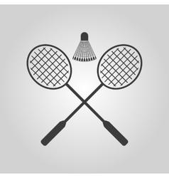 The badminton icon sport symbol flat vector