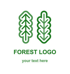 Two coniferous forest trees logo vector