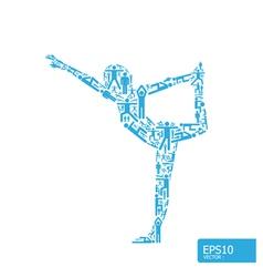 yoga concept vector image vector image