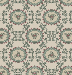 Vintage floral background pattern vector image