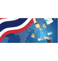 Thailand economy fiscal money trade concept vector