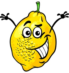 Funny lemon fruit cartoon vector