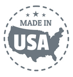 Made in usa country logo simple style vector