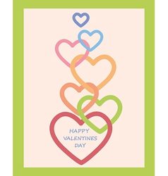 Valentines day decoration with hearts vector
