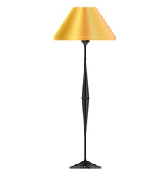 A yellow floor lamp vector