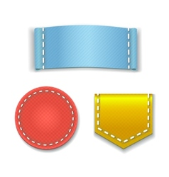 Collection of colorful blank labels or badges with vector