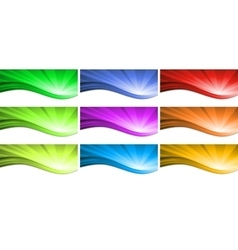 Abstract colorful wave background vector