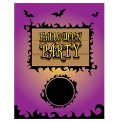 Happy halloween card design template vector