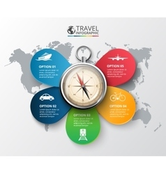 Travel infographic vector