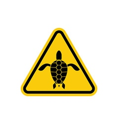 Yellow sign attention water turtle marine reptile vector