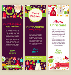 Merry christmas party invitation template flyer vector