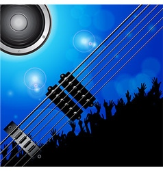 Air guitar and crowd background vector