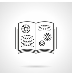 Book on physics flat line icon vector