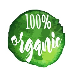 Natural organic icon label vector