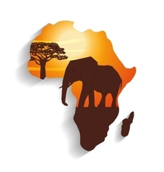 Flat about africa design vector