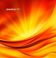 abstract red neon background vector image