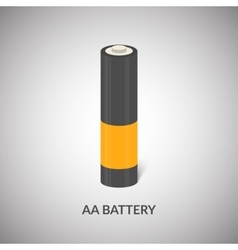 AA Battery icon Isolated cylinder AA vector image vector image