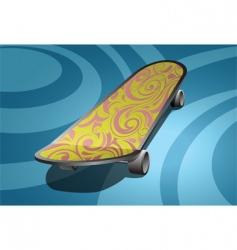 art skateboard vector image