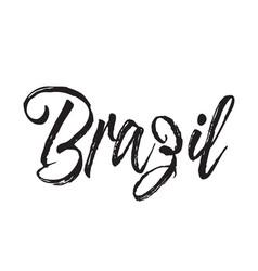 Brazil text design calligraphy vector