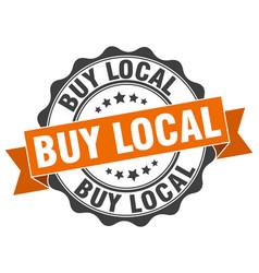 Buy local stamp sign seal vector