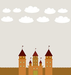 Card with castle princess fairytale landscape vector